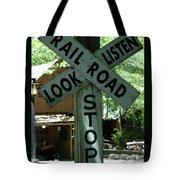 Stop, Look, Listen Tote Bag