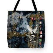 Stop Rhino Poachers Wildlife Conservation Art Tote Bag