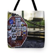 Stop Sign Ala New Orleans, Louisiana Tote Bag