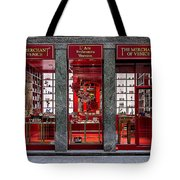 Store Front In Red Tote Bag