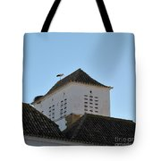 Stork And Nest On Roof In Faro. Portugal Tote Bag