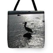 Stork At Evening Tote Bag