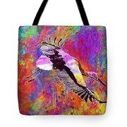 Stork Fly Elegant Feather Bird  Tote Bag