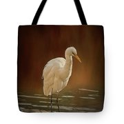 Stork On A Rock Tote Bag by Elaine Teague