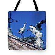 Storks Of Segovia Tote Bag
