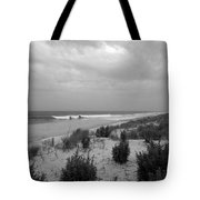 Storm Approaching - Jersey Shore Tote Bag by Angie Tirado