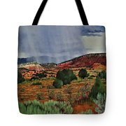 Storm Approaching The Ridge Tote Bag