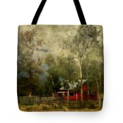 Storm Approaching White Birch Cottage Tote Bag