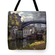 Storm Aproach At Lockport Locks Tote Bag
