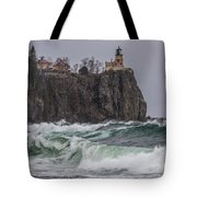 Storm At Split Rock Lighthouse Tote Bag