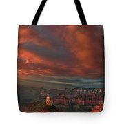 Storm At Sunrise Point Imperial Grand Canyon National Park Arizona Tote Bag
