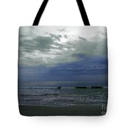 Storm At The Beach Tote Bag