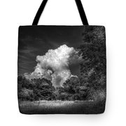 Storm Beyond The Meadow Tote Bag