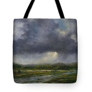 Storm Brewing Over The Refuge Tote Bag