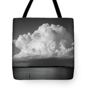 Storm Cloud On The Horizon Tote Bag