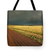 Storm Clouds Along A Saskatchewan Country Road Tote Bag