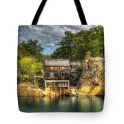 Storm Clouds Cross The Quarry At High Noon Tote Bag