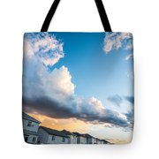 Storm Clouds In The Sunset Tote Bag by Adnan Bhatti