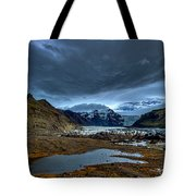 Storm Clouds Over A Glacier - Iceland Tote Bag