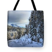 Storm Clouds Over Bow Valley Parkway Tote Bag