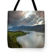Storm Clouds Over Hood River Tote Bag