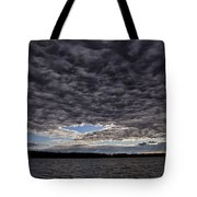 Storm Clouds Over Long Lake Tote Bag