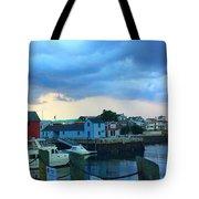 Storm Clouds Over Rockport Harbor Tote Bag