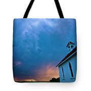 Storm Clouds Over Saskatchewan Country Church Tote Bag
