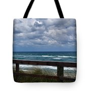 Storm Clouds Over The Beach Tote Bag