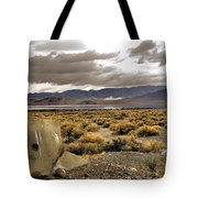 Storm Clouds Over The Desert Tote Bag