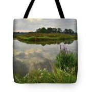 Storm Clouds Reflect In The Nippersink Tote Bag