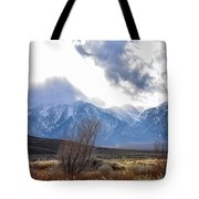Storm Descending From The Sierras Tote Bag