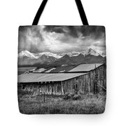 Storm In B And W Tote Bag