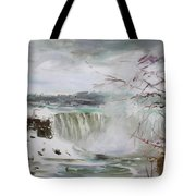 Storm In Niagara Falls  Tote Bag