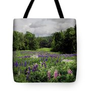 Storm In The Lupine Tote Bag