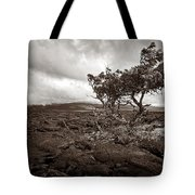 Storm Moving In - Sepia Tote Bag