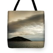 Storm Moving In Over Veli Osir Island In The Morning Tote Bag