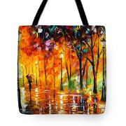 Storm Of Emotions - Palette Knife Oil Painting On Canvas By Leonid Afremov Tote Bag