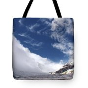 Storm On A Glacier Tote Bag