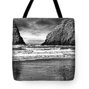 Storm On The Rocks Tote Bag
