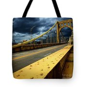 Storm Over Bridge Tote Bag