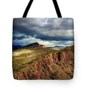 Storm Over Cliffs Tote Bag