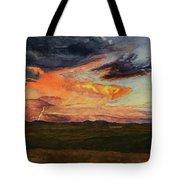Storm Over Davis Mountains Tote Bag