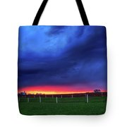 Storm Over Farm Country Tote Bag