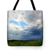 Storm Over Foothills Tote Bag