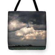 Storm Over Lake Michigan Tote Bag