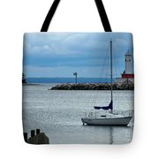 Storm Over Mackinac Tote Bag