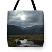 Storm Over Moraine Park Rocky Mountain National Park Tote Bag