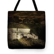 Storm Over Old Country House Tote Bag