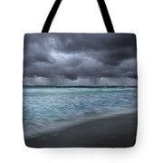 Storm Over Point Moore Tote Bag